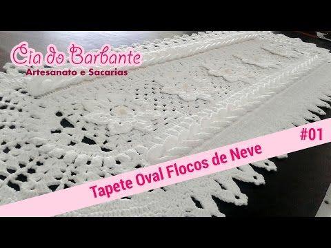 (25) Vídeo Aula - Tapete Oval Flocos de Neve Parte1 - YouTube
