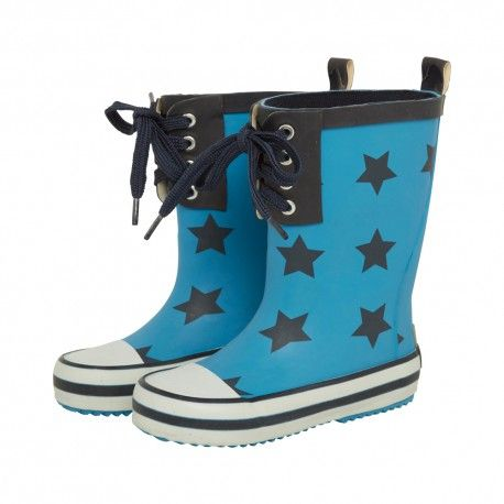Rubber boots, natural rubber, blue with navy blue stars, Celavi