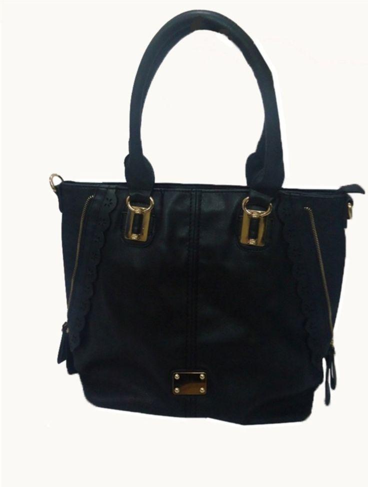 Mirac Black PU Shoulder Bag