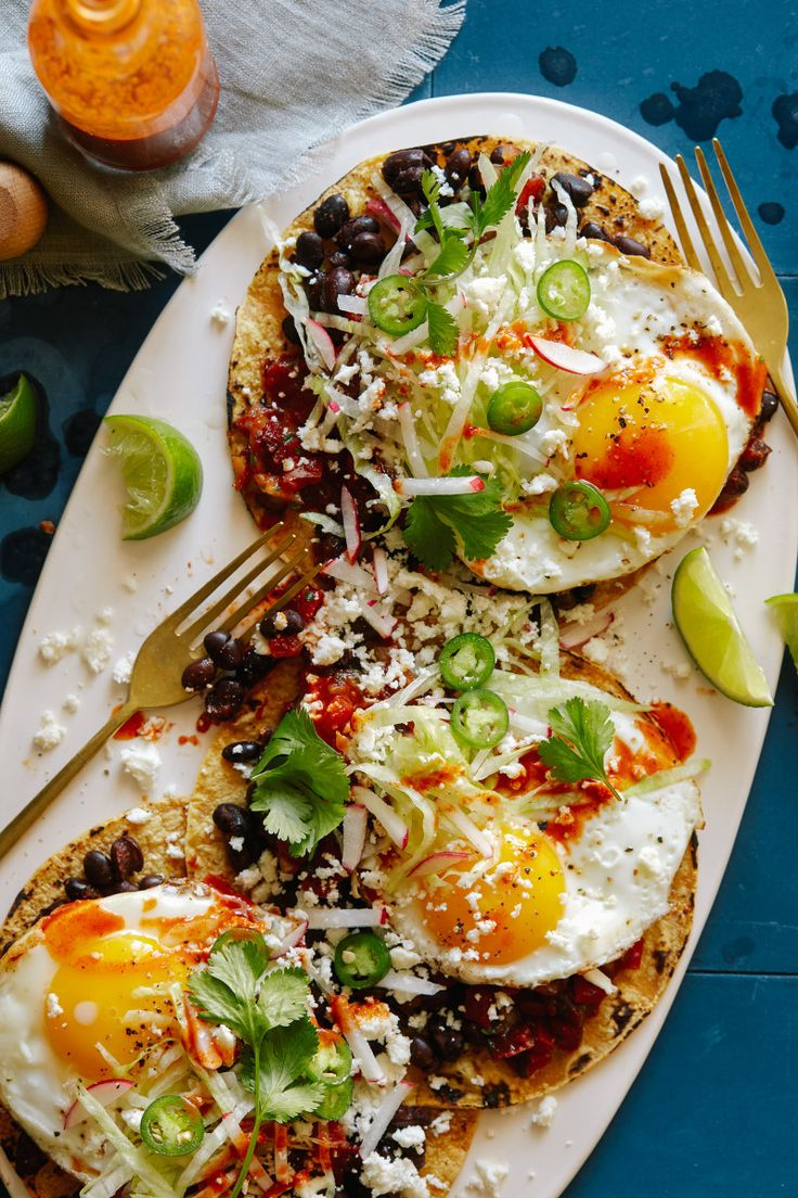 Huevos Rancheros with Black Beans and Chipotle Salsa