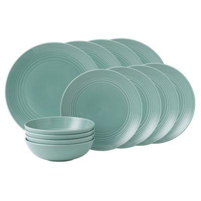 Aqua 'Maze' ripple 12 piece dinner set at debenhams.com
