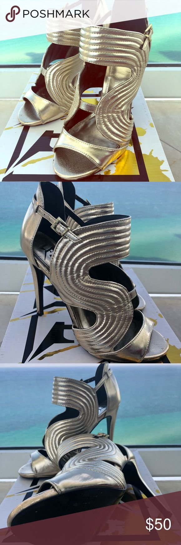 Golden Warrior Pumps Heels Size 8.5 Be a warrior woman  Unique gold wraparound Heels  Perfect for the new year!  Size 8.5   Worn twice only  In great condition  *Bought them at a Miami boutique Shoes Heels