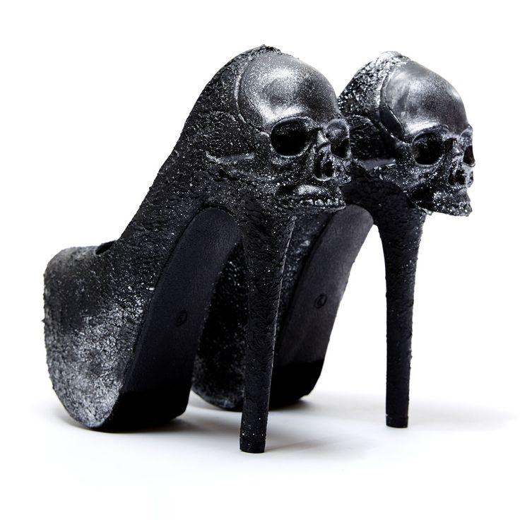 Zombie Peep Show 'Purgatory', black, pump From The Plus Size Fashion Communiy At www.VinageAndCurvy.clm
