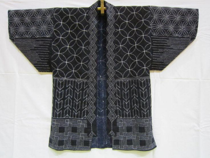 Jasje, voorzien van diverse Sashiko-patronen.
