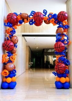 Balloon Arch Basketball And Arches On Pinterest