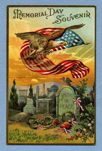 vintage-eagle-american-flag-grave.jpg 324×480 pixels Image courtesy of vintageholidaycrafts.com
