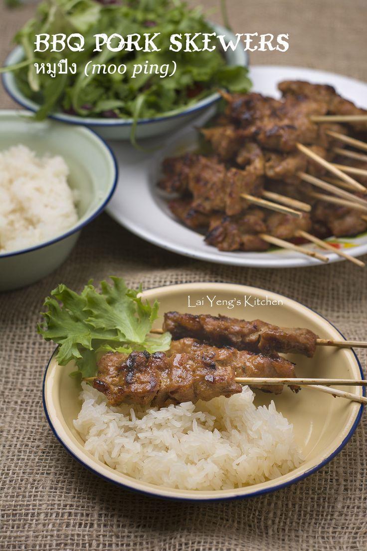 Moo Ping BBQ Pork Skewers