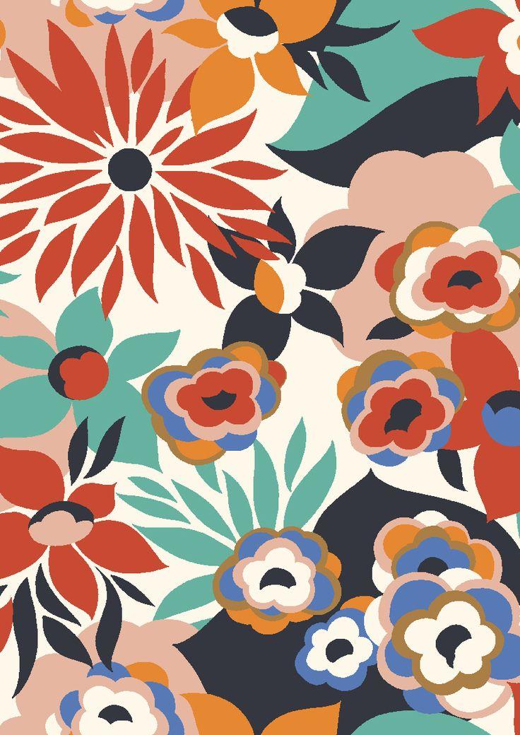 pattern by Minakani #minakani #flowers #chrysanthemum #pattern #minakani
