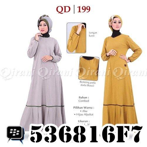 Koleksi Baju Muslim Qirani Dewasa 199. Order via: SMS/Telp: 0856-5502-3555 Whatsapp: +6285655023555 BBM: 5F497666