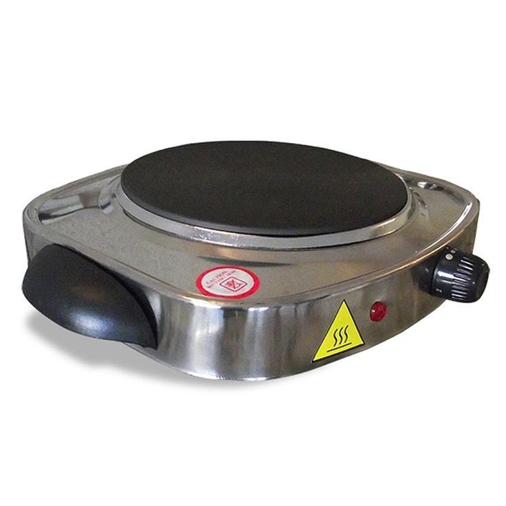 fogão elétrico cooktop 1 boca anti-aderente aço inox 110v