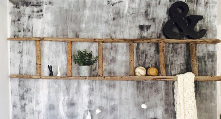 Leiterregal » So wird deine alte Holzleiter zum Eyecatcher