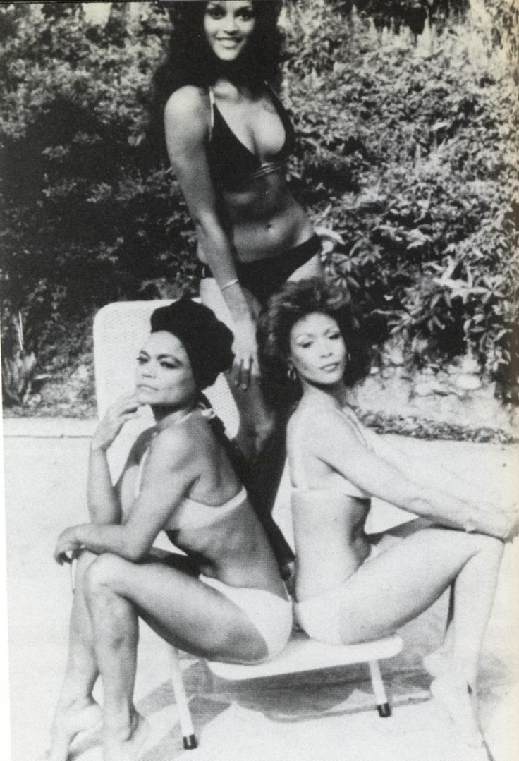 Vintage photo of Jayne Kennedy, Freda Payne and Eartha Kitt (Cover of Jet Magazine) in the 1970s. # BLACK IS BEAUTIFUL
