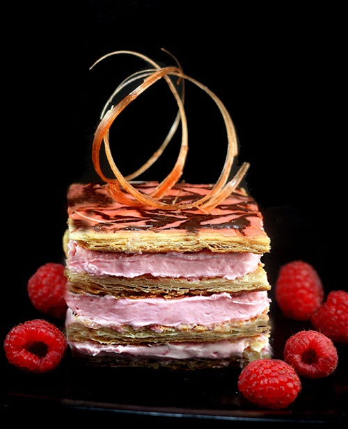 ... Mille feuille on Pinterest | Pistachios, Strawberry mousse and Almonds