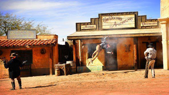 Old Tucson Gunfight...By Artist Unknown...