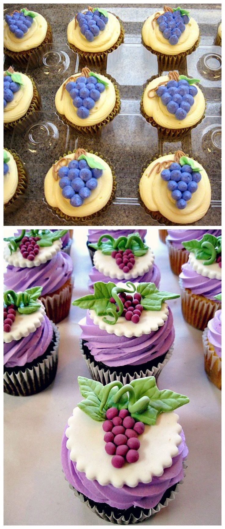 #Grape #cupcakeideas- pair with a glass of wine and some cheese! #GrapeCupcakes