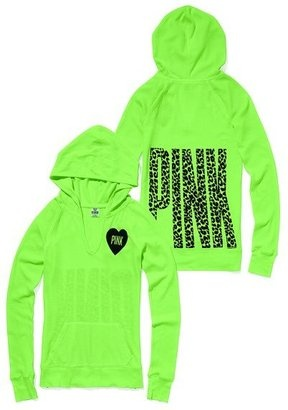ShopStyle: Victoria's Secret Pink® Thermal Pullover Hoodie