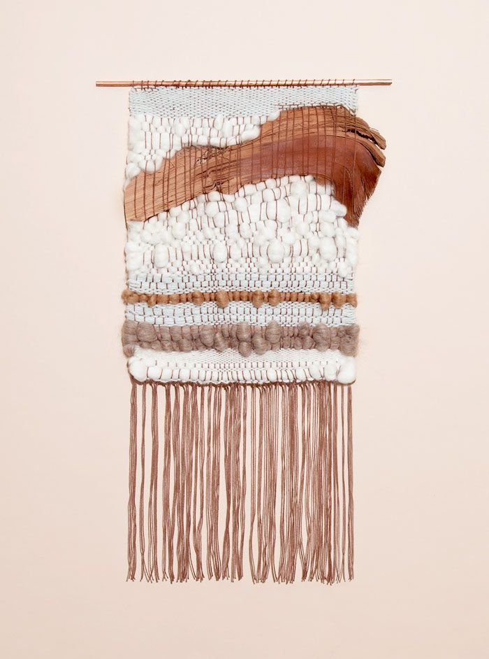 this one has already been sold - but woven wall hangings were big during the period she likes, and they're coming back in style! avery and i found a bunch of sources for them the other day //// Natural Element 2 weaving by Brook & Lyn