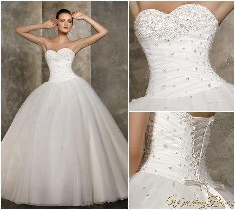 Piękna suknia ślubna!♥