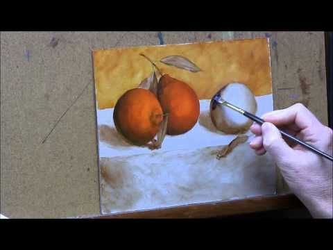 Oranges #2 - Glazing Shadows/ Laying in Color - YouTube