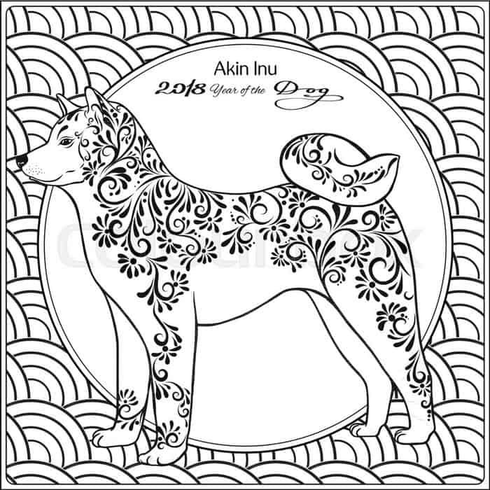 Chinese New Year Year Of The Dog Coloring Pages New Year Coloring Pages Dog Coloring Page Dragon Coloring Page