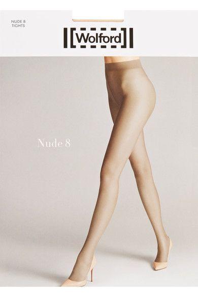 Wolford - Nude 8 Denier Tights - Beige -