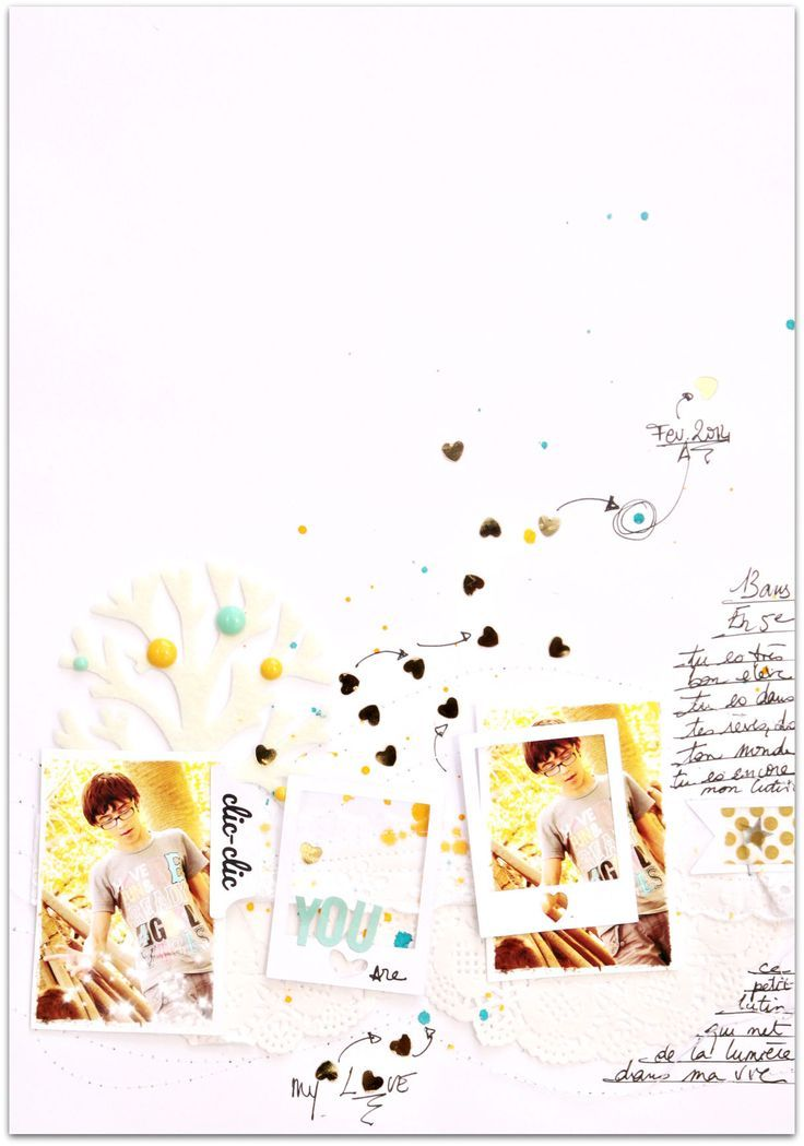 #papercraft #scrapbook #layout.  you are my love by cat123 at @Studio_Calico