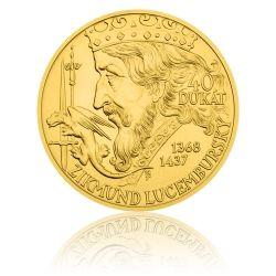 Zlatá investiční mince 100 NZD 40dukát Zikmunda Lucemburského stand