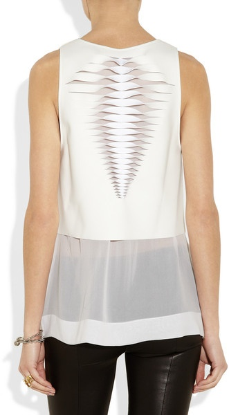 Dion Lee Lasercut Neoprene Top