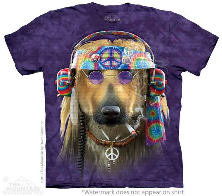 Peace Dog T-Shirt - Click image to see hundreds of different animal t-shirts #themountaintees