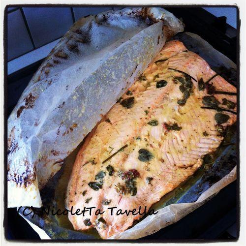 zalm uit de oven met honing en mosterd (!)