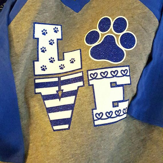 School Spirit shirt LOVE glitter  KIDS by HaylieCo on Etsy