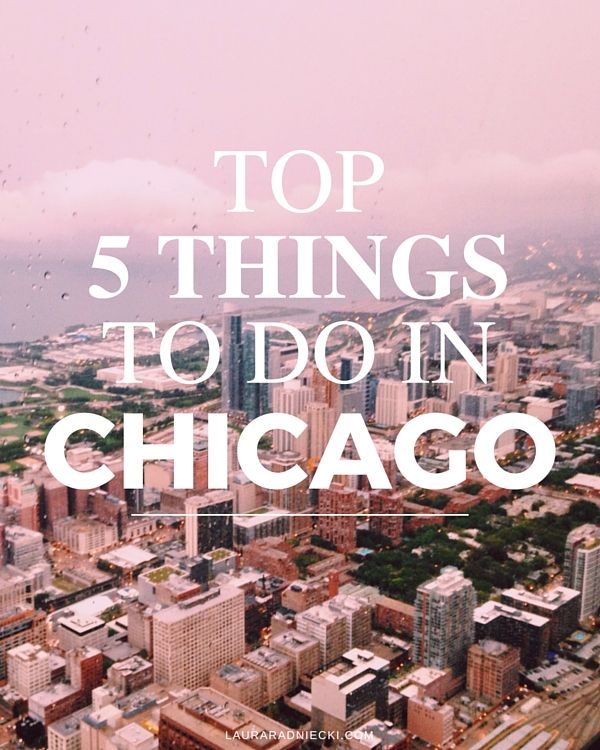 The Top 5 Things to do in Chicago, Illinois. Includes Willis Tower, Navy Pier, The Bean, Architecture Boat Tour, Riverwalk, Lakefront & Buckingham Fountain.
