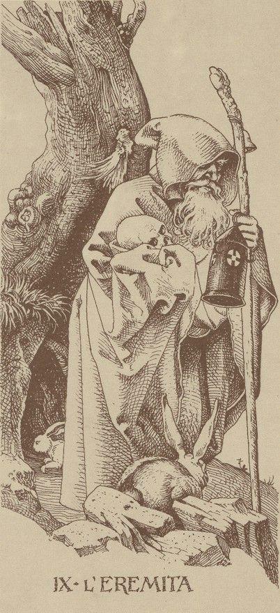 IX. The Hermit: The Dürer Tarot #MediumMaria