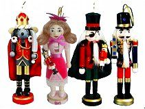"Get the whole cast in one box! Adorable 6"" Nutcracker Characters"