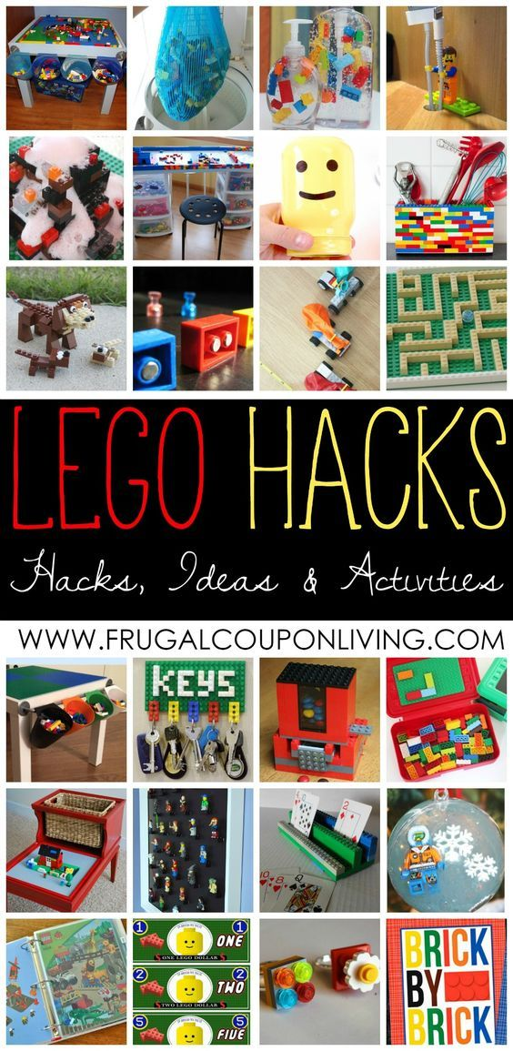 Everything is Awesome! LEGO Hacks, LEGO Ideas and LEGO Activities for Kids on Frugal Coupon Living. Upcycle LEGOs and more!