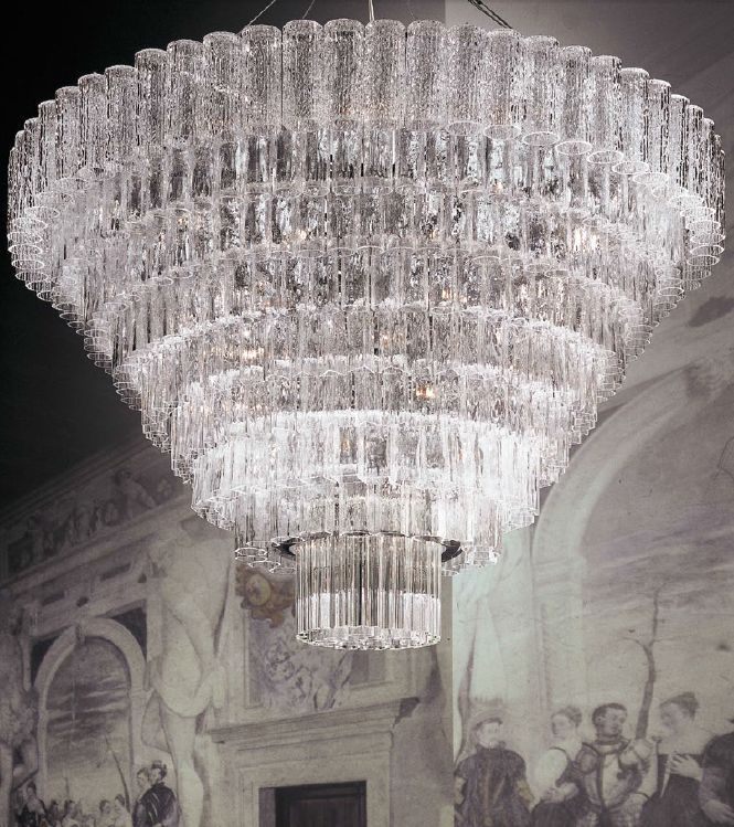 This breathtaking large murano glass chandelier was custom made for this breathtaking large murano glass chandelier was custom made for a private villa in venice it comprises clear murano glass tubes and murano gl aloadofball Gallery