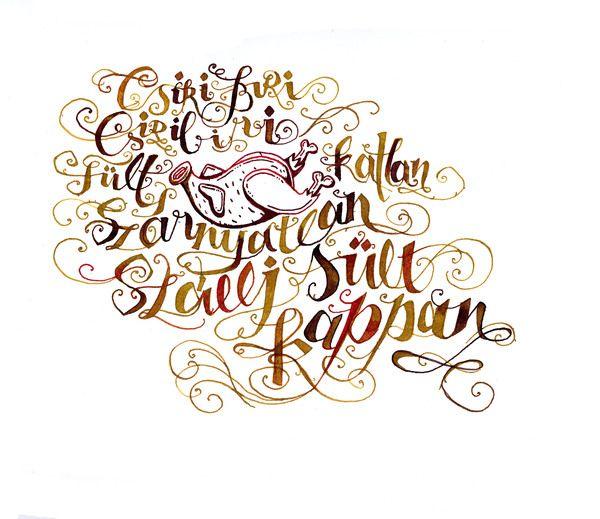 poems in calligraphy by Boglárka Nádi, via Behance