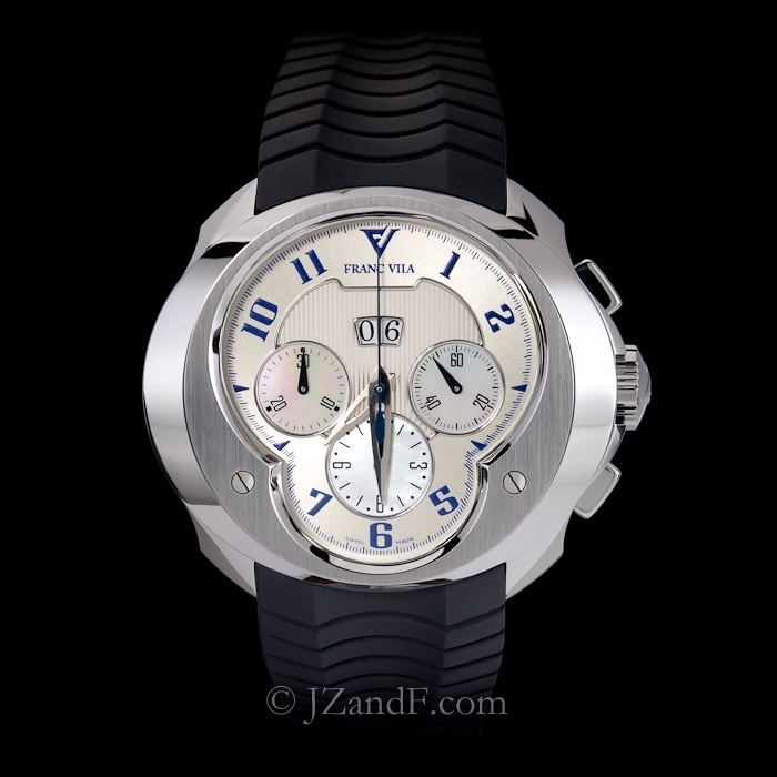 Franc Vila FVa8ch Chronograph Big Date - Mother of Pearl (MOP) Dial (Limited Edition of 88)