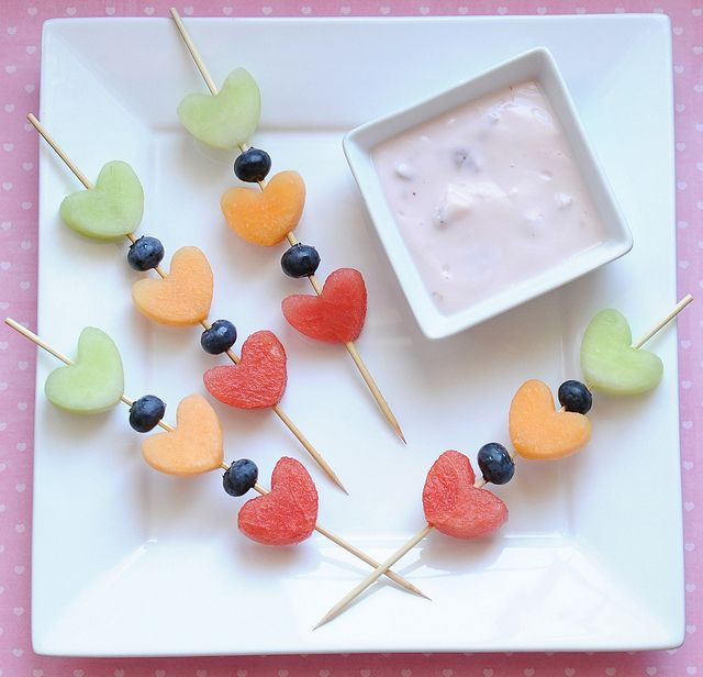 Melon Kebabs with Yogurt Dipping Sauce