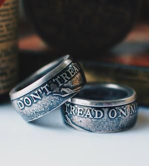 Don T Tread On Me Silver Ring