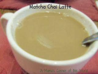 Homemade Matcha Chai Latte Recipe ~ A Mama's Corner of the World