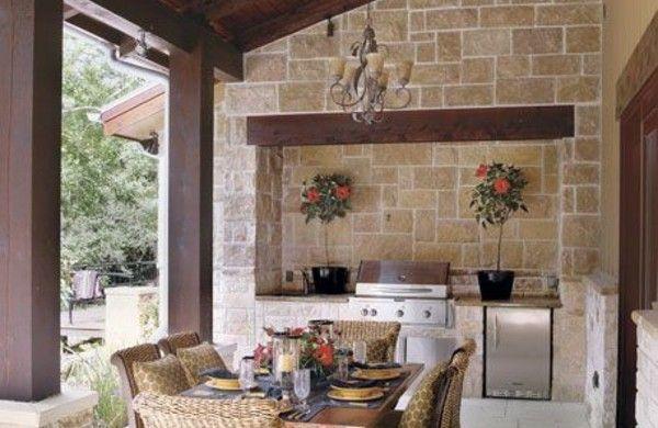 Outdoor Küche Rustikal : Ideen für outdoor küche für angenehmes abendessen im freien