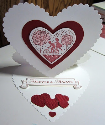Stampin' Up! Valentine    http://jennifersstamppad.blogspot.com: Hannah S Pins, Books Worth, Holiday Cards, Handmade Cards, Cards Valentine, Valentine Cards, C3 Ideas, Valentines Cards, Cards Shared