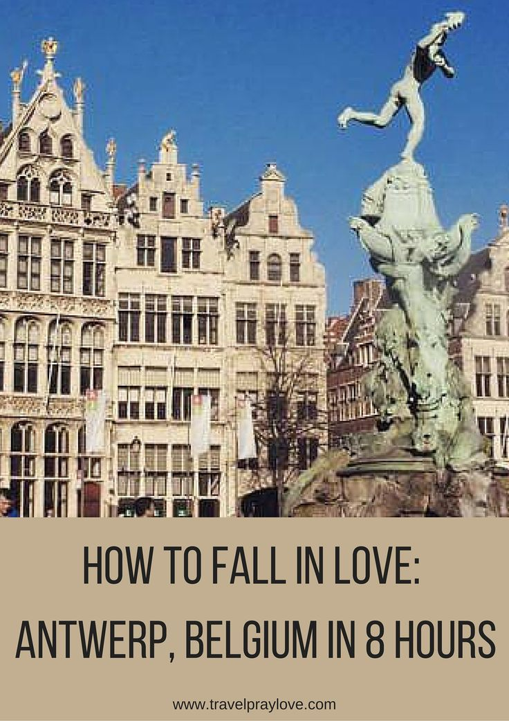 An afternoon itinerary for #Antwerp, #Belgium - includes places to eat, things…