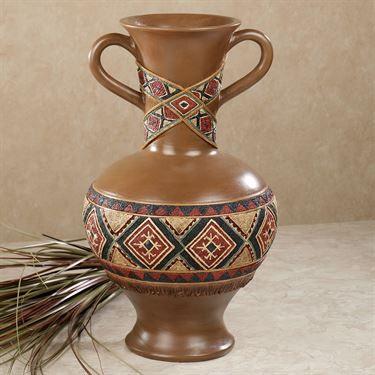 Tribal Spirit Southwest Decorative Table Vase. Entryway
