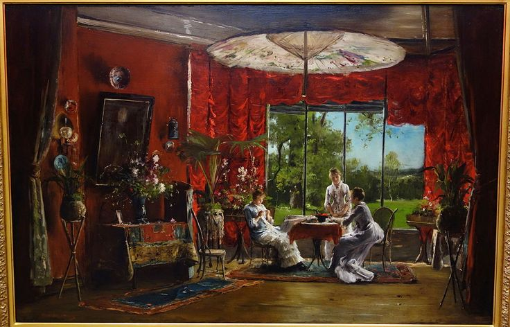 Interior, Paris, Munkácsy Mihály, c.  1875, olaj, panel - Albany Történelmi Intézet és művészet - DSC08066.JPG