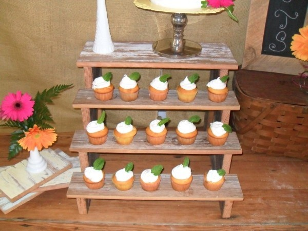 Tiered Cupcake Stand Cake Wedding Party Custom Design Fall
