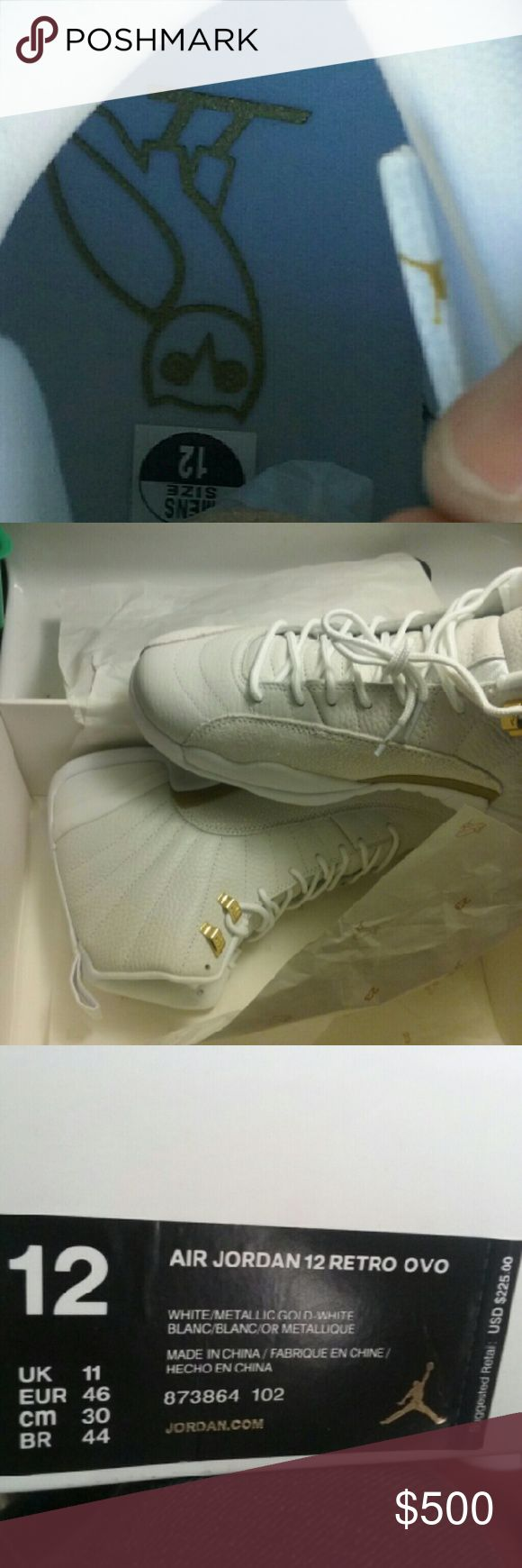 Jordan OvO Retro 12 SIZES 8-12 ONLY BNiB Comes with Nike Receipt  Only sizes 8-12 available (NO GS/13+)  Satisfaction Guaranteed    Square cash goods only  No Scam $449shipped Contact 9377298364 Jordan  Shoes Sneakers