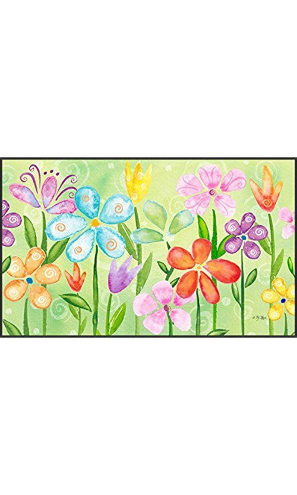 Toland Home Garden Spring Blooms 18 x 30-Inch Decorative USA-Produced Standard Indoor-Outdoor Designer Mat 800008 Best Price