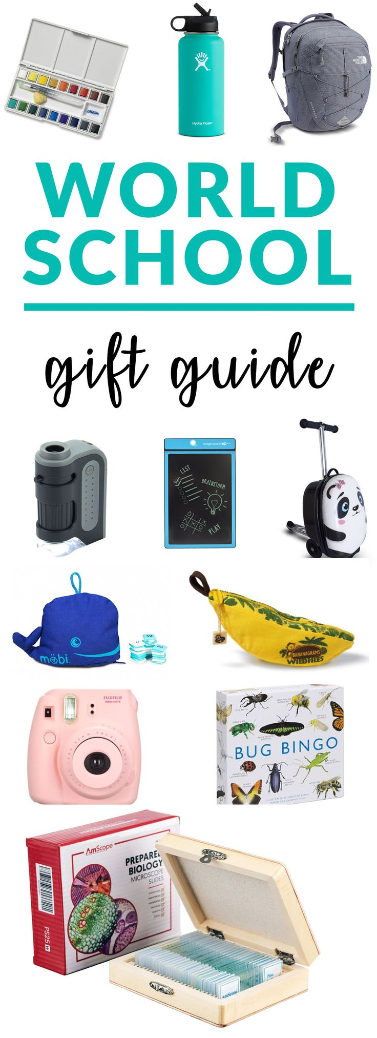 Worldschool Gift Guide. Find the best gifts for worldschoolers, travelers and homeschoolers. #travel #christmas #christmasgifts #worldschooling #worldschool #Homeschooling #homeschool